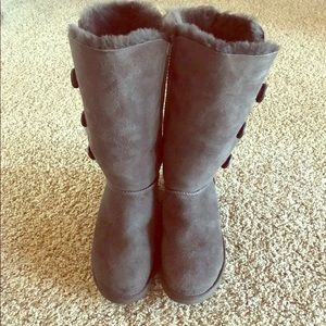 Ugg Bailey Button Boots Chocolate Brown